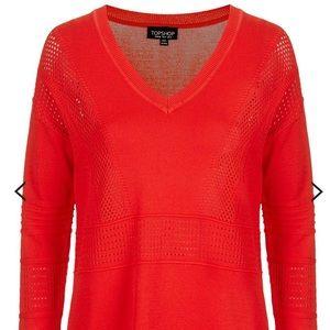 Top Shop Pointelle V-neck jumper sweater